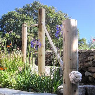 garden rope hand rail